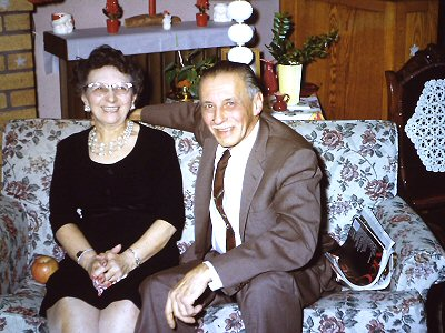 Anna and Clarence in December of 1961