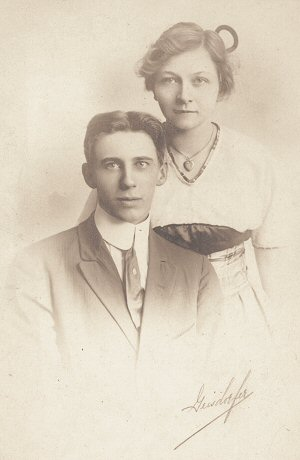 image: Clarence D. Fulton's and Anna Gemmer's Wedding 1914