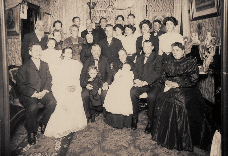 Conrad and Wilhelmina Stengel 50th Wedding Anniversary in 1909