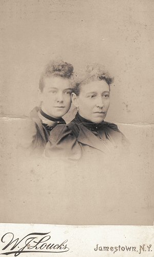 Eliza A. Millard Fulton (right) with daughter-in-law Katherine Cox Fulton