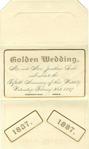 image: Jonathan & Sarah Locke's 50th Weddding Anniversary Invitation